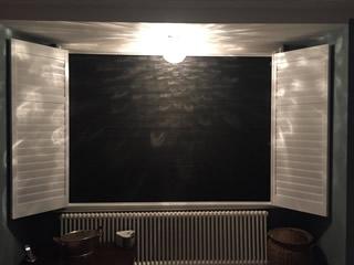 black integrated blinds