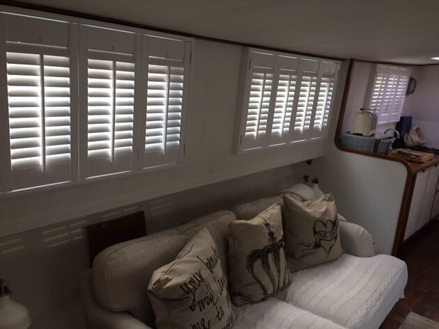 house boat shutters london