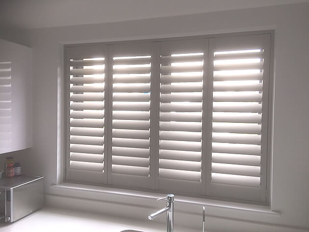full height shutters with hidden tilt rod