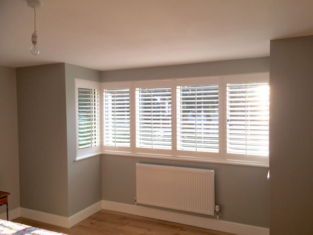square bay window shutters for childs bedroom in maidstone
