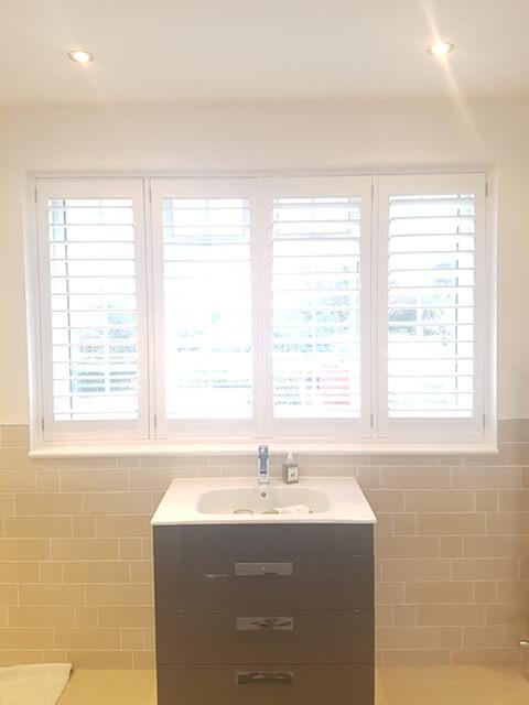 full height abs bathroom shutters