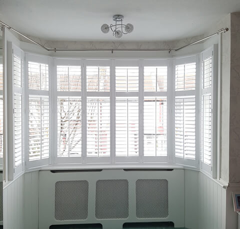 full height bay window shutters