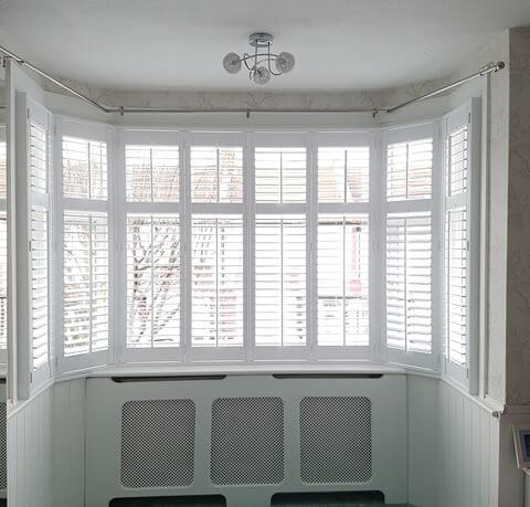 full height bay window shutters
