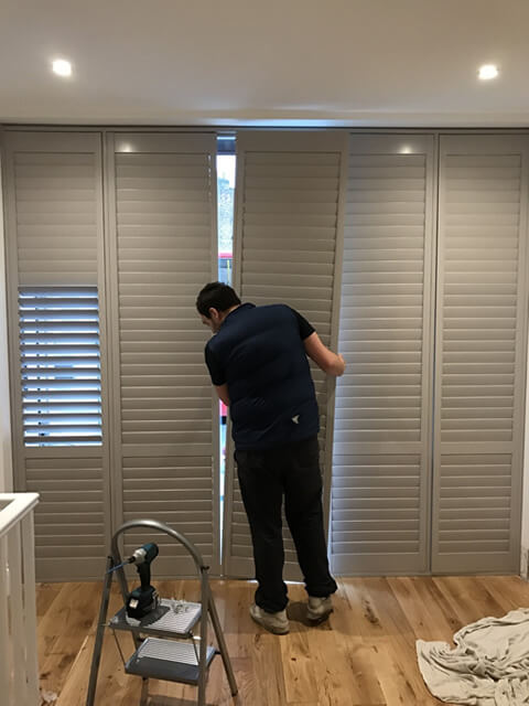 fitting office window shutter panels