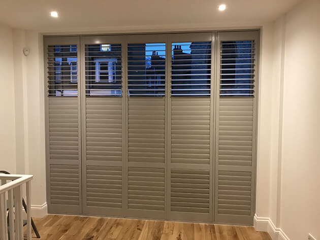 office window shutters completed