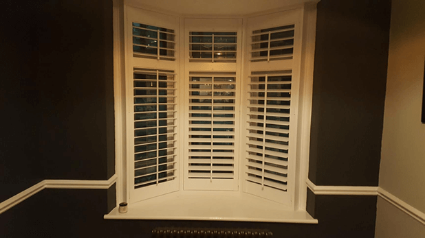 small bay window shutters