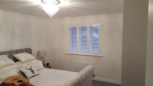 new build shutters bedroom