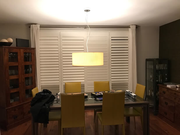 dining room shutters closed