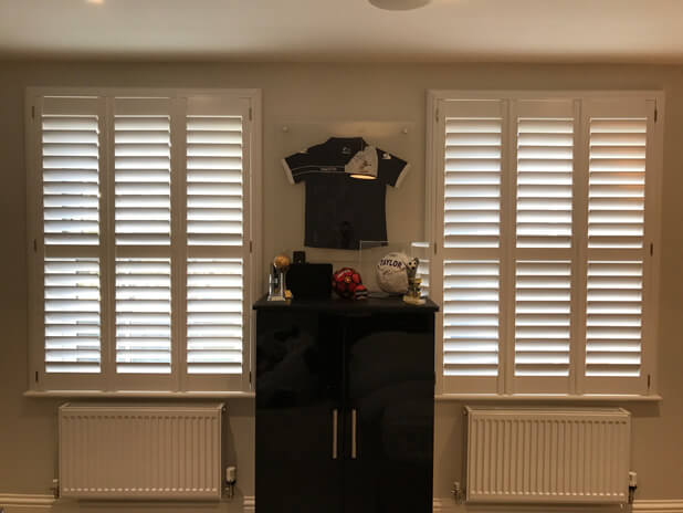 pair of full height window shutters