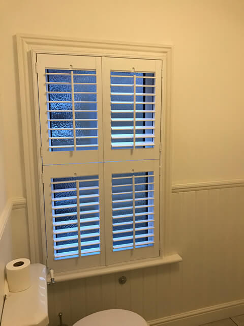 sidcup shutters in toilet