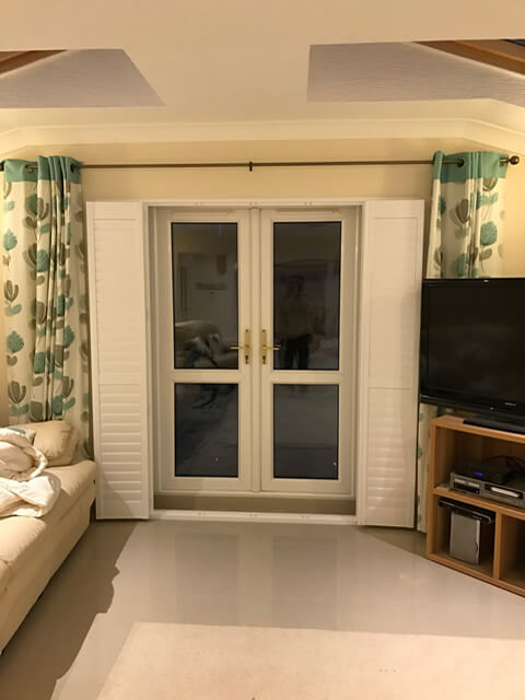 patio door shutters open
