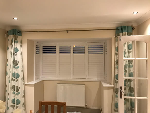 square bay window shutters