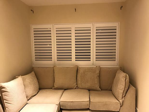 sofa area shutters