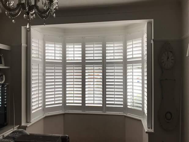beckenham bay window shutters closeup