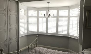 Full Height Bay Window Shutters for Home in Beckenham, Kent
