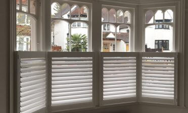 Full Height and Café Style Shutters for Flat in Bromley, Kent