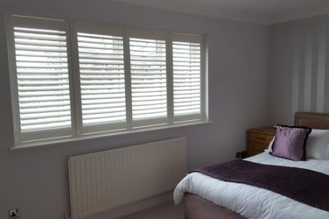 Full Height Shutters for multiple rooms of home in Warlingham, Surrey