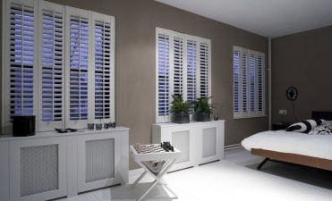 Room Darkening using our Shutters with Integrated Blinds