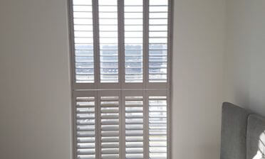 Tier on Tier Shutters for Modern Apartment in Greenwich, South East London