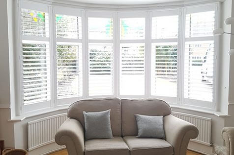 Bay Window Shutters for Living Room in Welling, Kent