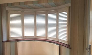 Shutters for Bay Window of Home in Biggin Hill, Kent