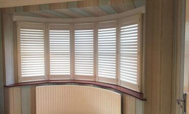 Shutters for Bay Window of Home in Biggin Hill, Kent