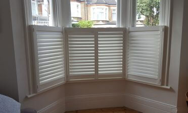 Cafe Style Shutters for Bay Window in Sevenoaks, Kent