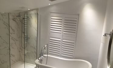 Shutters for the Bedroom, Bathroom and Living Room of Home in Bromley, Kent