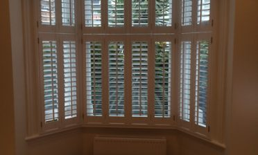 Tier on Tier Shutters for Bay Window in Dulwich, South East London
