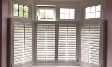 Cafe Style Shutters for Bay Window in Elmers End, Kent