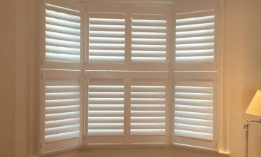Tier on Tier Shutters for Bay Window in Fulham