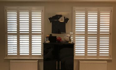 Full Height Shutters for two windows of room in Bromley, Kent