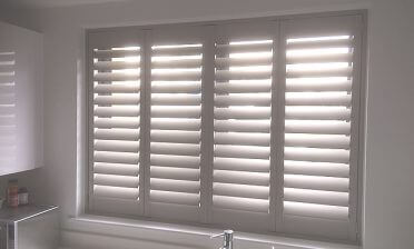 Full Height Bali Shutters for Kitchen in Bromley, Kent
