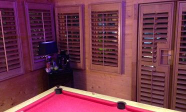 Shed Games Room Shutters in West Dulwich, London