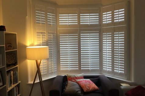 Tier on Tier Shutters for Bay Window in Hither Green, South East London