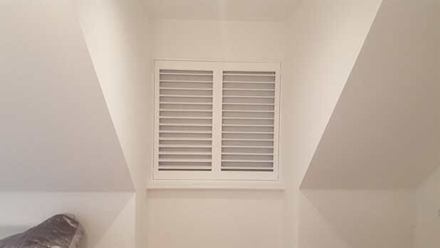 integrated blind shutters closed