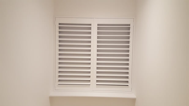 integrated blind shutters close up