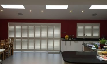 Shutters for Kitchen Backdoors and Window in Chislehurst, Kent