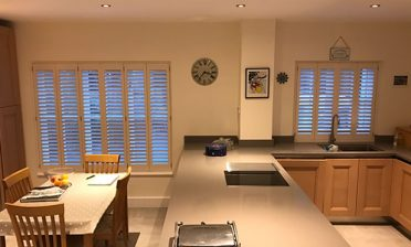 Bespoke Shutters for Modern Kitchen Diner in Highgate, London