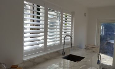Full Height Shutters for Kitchen Window of Home in South Croydon