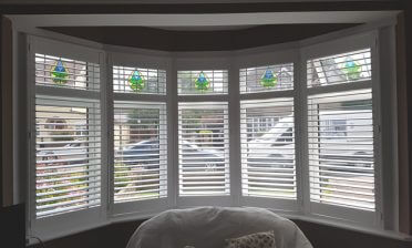 Bay Window Shutters for Living Room and Bedroom of Property in Locksbottom, Kent