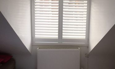 Window Shutters for Loft Space Bedroom in Epsom, Surrey