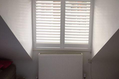 Window Shutters for Loft Space Bedroom in Epsom, Surrey