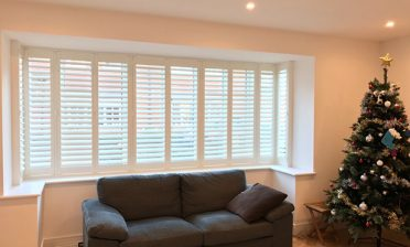 Square Bay Window Shutters for Home in Bluewater, Kent