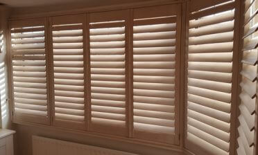 Shutters for Bedroom L-Shaped Bay Window in West Wickham, Bromley