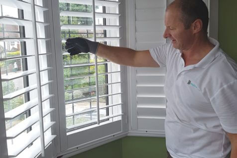 5 section Bay Window Shutters for Home in Farnborough, Kent