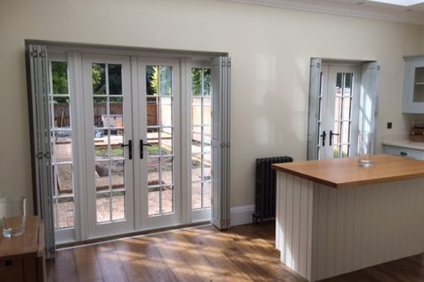 Solid Raised Shutters for Kitchen Doors in Purley Downs, Croydon