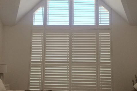 Special Shaped Shutters for Loft Space in Hampstead Heath, London
