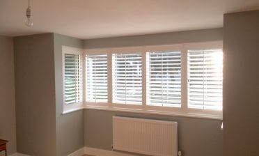 Square Bay Window Shutters for Childs Bedroom in Maidstone, Kent