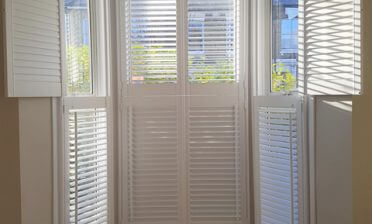 Tier on Tier Shutters for Bay window of Home in Hampstead, North West London